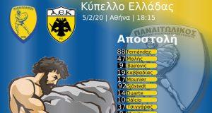 ΑΕΚ - Παναιτωλικός: Αποστολή Κυπέλλου